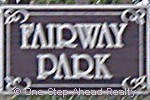 sign for Fairway Park